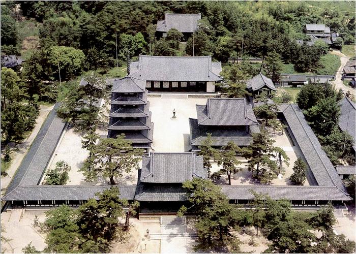 ChùaHoryuji mang kiến trúc Phật giáo